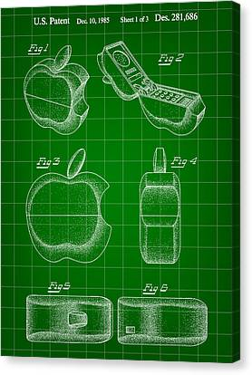 Apple Phone Patent 1985 Canvas Print by Stephen Younts
