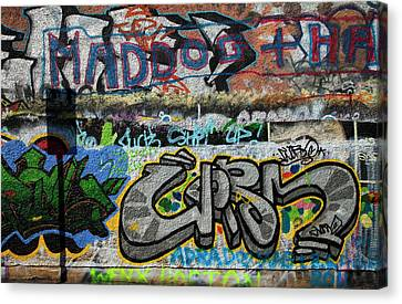 Artistic Graffiti On The U2 Wall Canvas Print by Panoramic Images