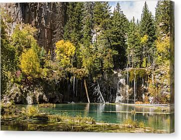 Autumn At Hanging Lake Waterfall - Glenwood Canyon Colorado Canvas Print by Brian Harig