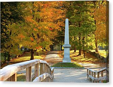 Autumn Dawn At The Historic Old North Canvas Print by Brian Jannsen