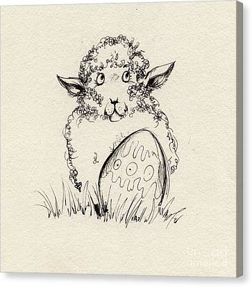 Baa Baa Canvas Print by Angel  Tarantella