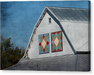 2 Barn Quilts Canvas Print by Cassie Peters