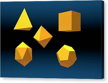 Basic Geometric Solids Canvas Print by Carol & Mike Werner