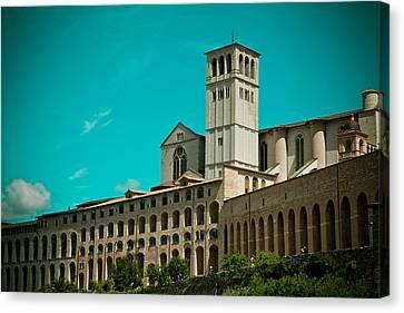 Basilica Of San Francesco Assisi  Canvas Print by Raimond Klavins