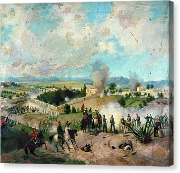 Battle Of Molino Del Rey Canvas Print by Granger