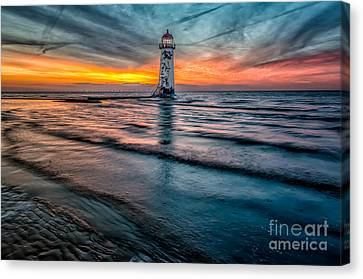 Beach Sunset Canvas Print by Adrian Evans