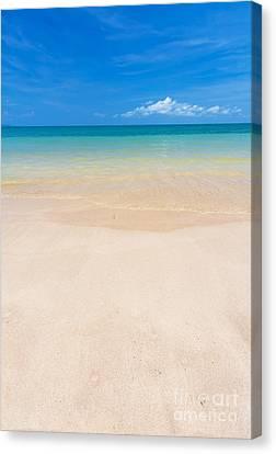 Beautiful Beach Canvas Print by Atiketta Sangasaeng