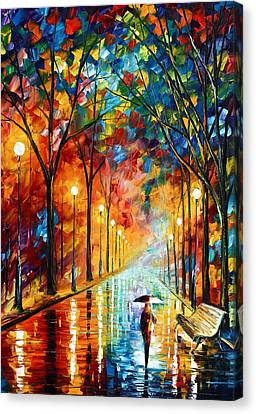 Before The Celebration Canvas Print by Leonid Afremov