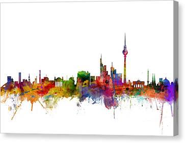 Berlin Germany Skyline Canvas Print by Michael Tompsett