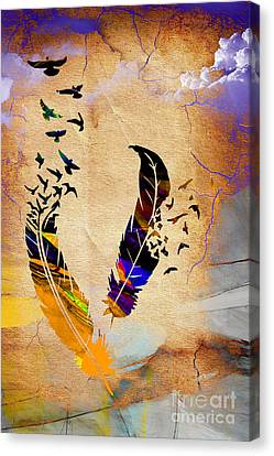 Birds Of A Feather Canvas Print by Marvin Blaine