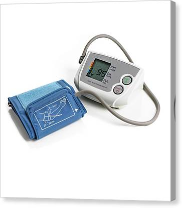 Blood Pressure Measurement Canvas Print by Science Photo Library