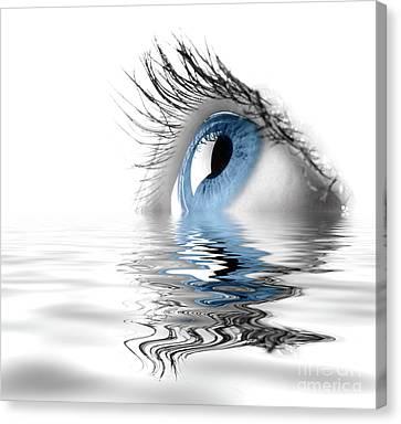 Blue Eye Canvas Print by Oleksiy Maksymenko