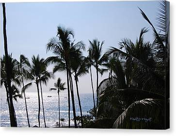 Blue Hawaii Canvas Print by Paulette B Wright