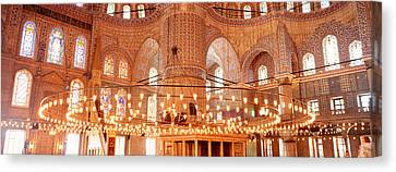Blue Mosque, Istanbul, Turkey Canvas Print by Panoramic Images