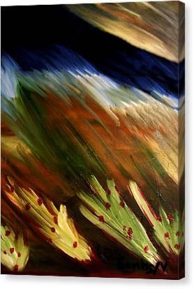 Blue Wheatie Canvas Print by Bamhs Blair