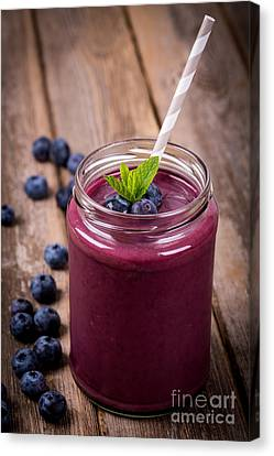 Blueberry Smoothie Canvas Print by Jane Rix