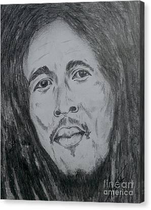 Bob Marley Canvas Print by Collin A Clarke