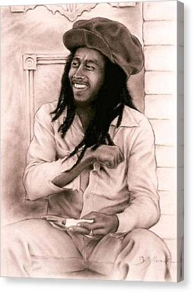 Bob Marley Canvas Print by Guillaume Bruno