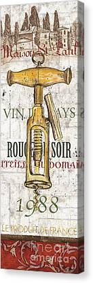 Bordeaux Blanc 1 Canvas Print by Debbie DeWitt