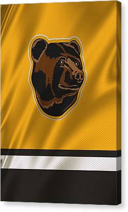 Boston Bruins Uniform Canvas Print by Joe Hamilton