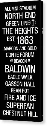 Boston College College Town Wall Art Canvas Print by Replay Photos