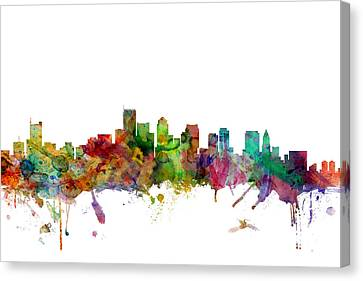 Boston Massachusetts Skyline Canvas Print by Michael Tompsett