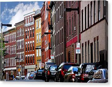 Boston Street Canvas Print by Elena Elisseeva