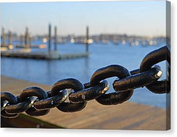 Boston Waterfront Canvas Print by Toby McGuire