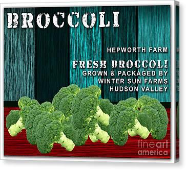Broccoli Farm Canvas Print by Marvin Blaine