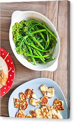 Broccoli Stems Canvas Print by Tom Gowanlock