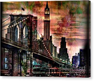 Brooklyn Bridge Canvas Print by Christine Mayfield