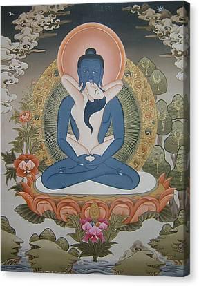 Buddha Shakti Thangka Painting Canvas Print by Ts