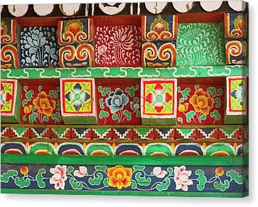 Buddhist  Monastery In Sikkim India Canvas Print by Jaina Mishra