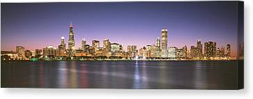 Buildings At The Waterfront, Chicago Canvas Print by Panoramic Images