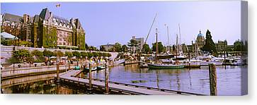 Buildings At The Waterfront, Empress Canvas Print by Panoramic Images
