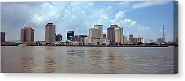 Buildings Viewed From The Deck Canvas Print by Panoramic Images
