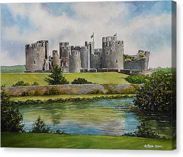 Caerphilly Castle  Canvas Print by Andrew Read