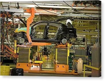 Car Assembly Production Line Canvas Print by Jim West