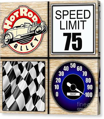 Speed Demon Art For Boys And Men Canvas Print by Marvin Blaine
