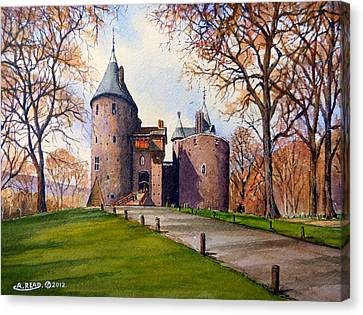 Castell Coch  Canvas Print by Andrew Read