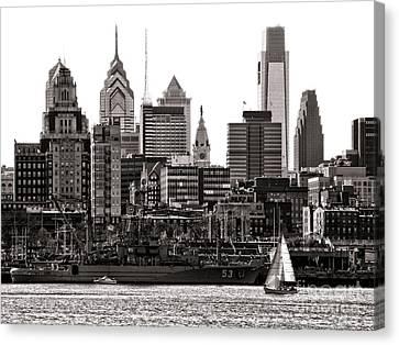 Center City Philadelphia Canvas Print by Olivier Le Queinec