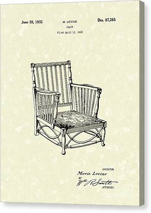 Chair 1932 Patent Art Canvas Print by Prior Art Design