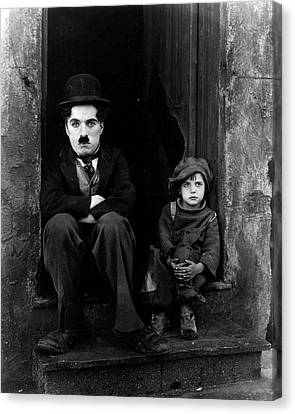Charlie Chaplin Canvas Print by Retro Images Archive