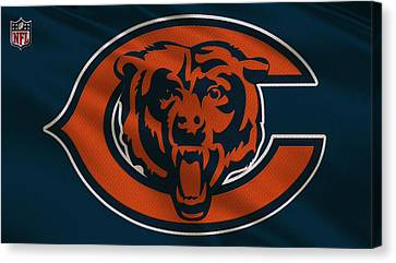 Chicago Bears Uniform Canvas Print by Joe Hamilton