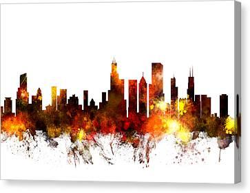 Chicago Illinois Skyline Canvas Print by Michael Tompsett