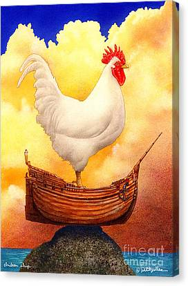 Chicken Ship... Canvas Print by Will Bullas