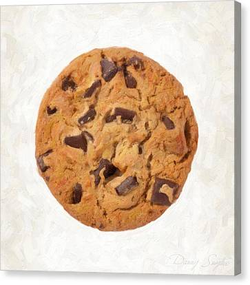 Chocolate Chip Cookie  Canvas Print by Danny Smythe