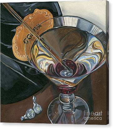 Chocolate Martini Canvas Print by Debbie DeWitt