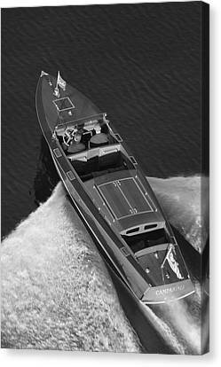 Chris Craft Aerial Canvas Print by Steven Lapkin