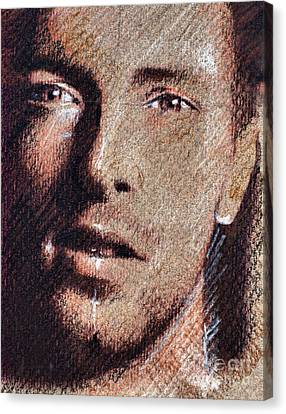 Chris Martin - Coldplay Canvas Print by Daliana Pacuraru